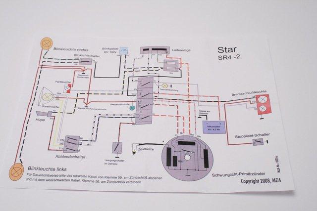 simson star kabelbaum inkl schaltplan f r sr4 2. Black Bedroom Furniture Sets. Home Design Ideas